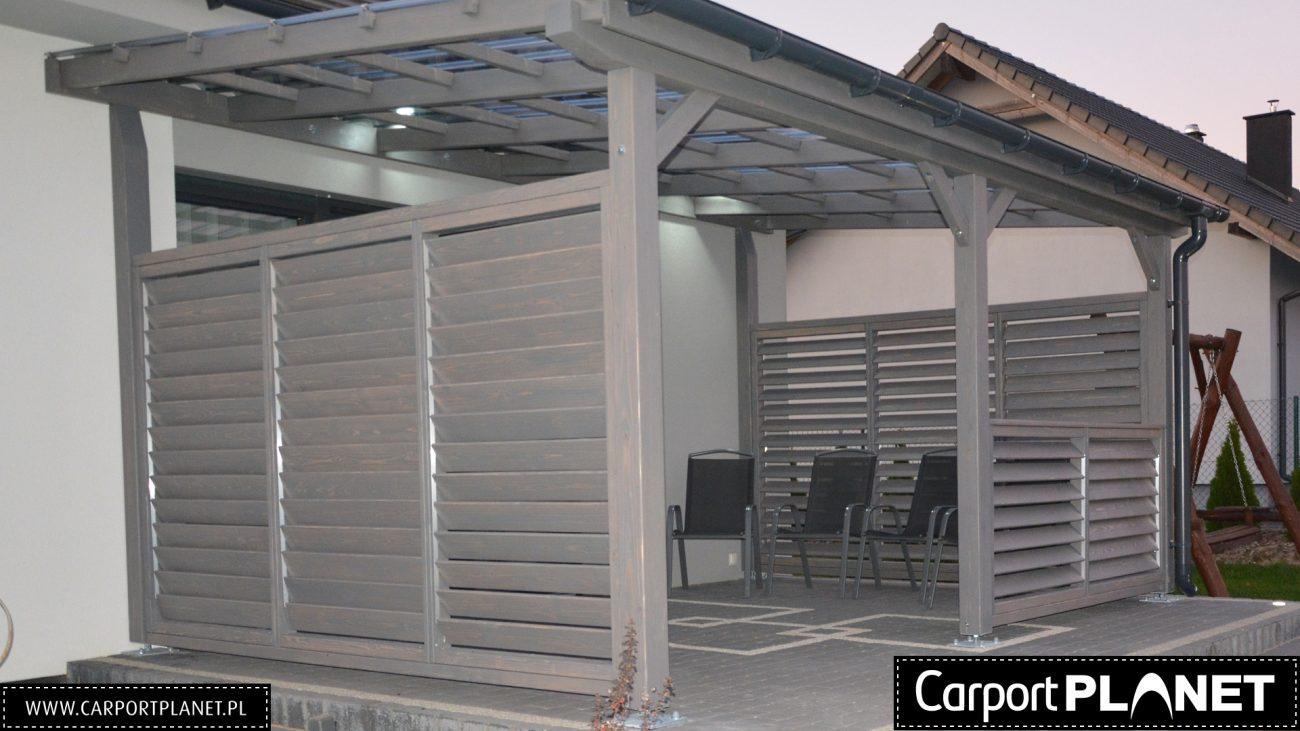 Wiata Garazowa Projekt M6 562x660cm Dach Lukowy