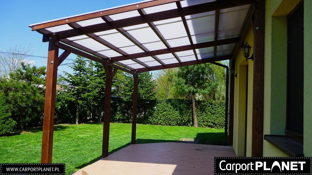 Modish Zadaszenie tarasu Projekt P1 zadaszenia drewniane dach prosty na taras OC59