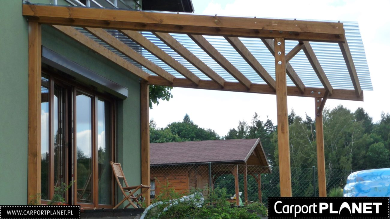Poważne Zadaszenie tarasu z poliwęglanu nowoczesne projekty z dachem prostym VU59